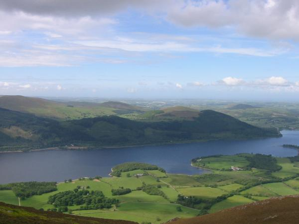 Looking over Bassenthwaite Lake to Ling Fell and Sale Fell