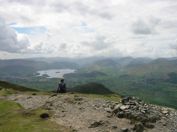 Derwent Water from Ullock Pike's summit