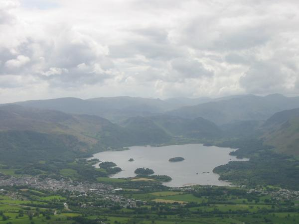 Keswick and Derwent Water from Carl Side