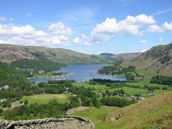 Ullswater from the ascent of Arnison Crag
