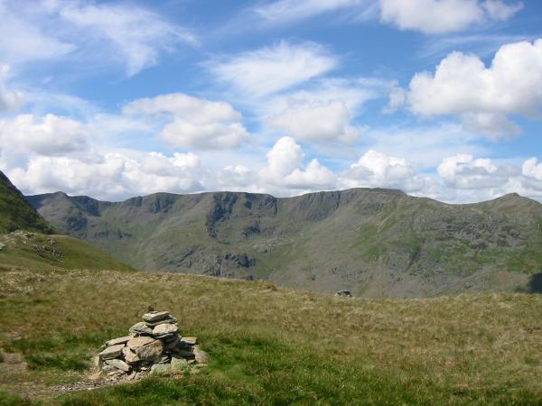 The Helvellyn ridge from Birks summit