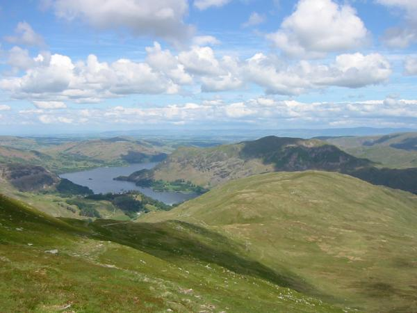 Looking back down on Birks from the traverse across to Gavel Pike