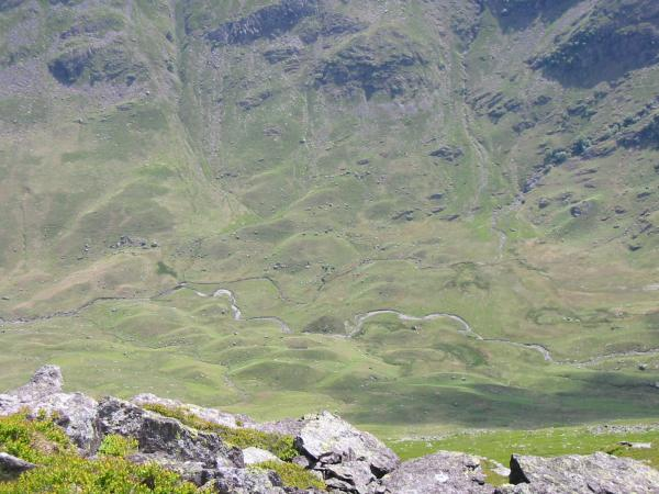 Looking down into Deepdale from Gavel Pike