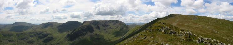 Red Screes to Saint Sunday Crag from Gavel Pike's summit