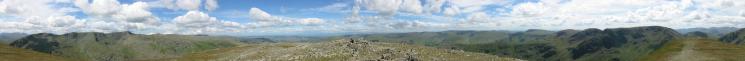 360 Panorama from Saint Sunday Crag's summit