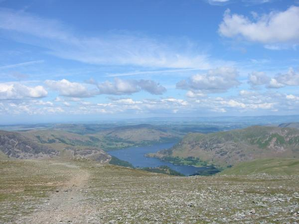 Ullswater from the top of Saint Sunday Crag
