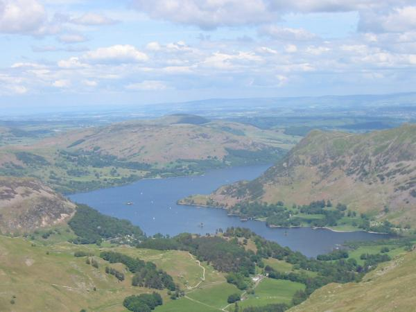 Looking down on Ullswater