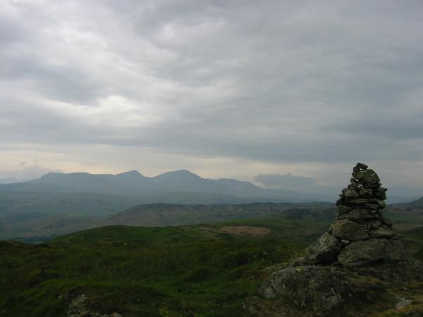 The Coniston Fells from Blawith Knott's summit