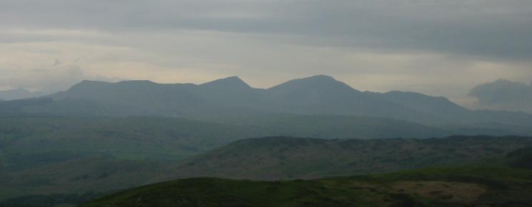 ...and zooming in. Walna Scar, Dow Crag, Coniston Old Man and Wetherlam