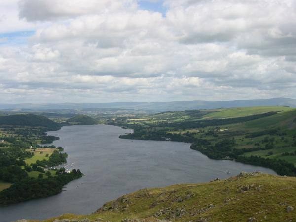 Ullswater with the Pennines in the distance
