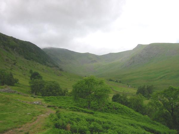 Riggindale with the point of Kidsty Pike on the right