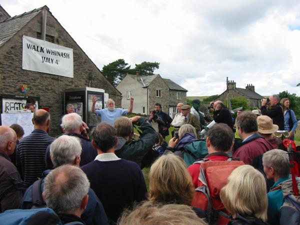 A passionate address to the walkers from David Bellamy