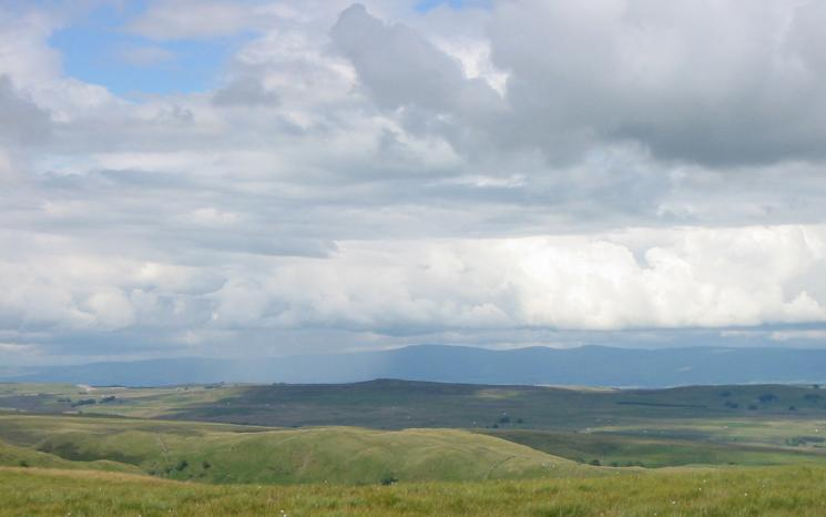Looking north east to the northern Pennines - Cross Fell, Little Dun Fell and Great Dun Fell