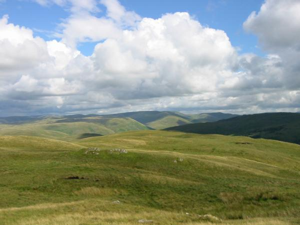 ... and south east to the Howgills