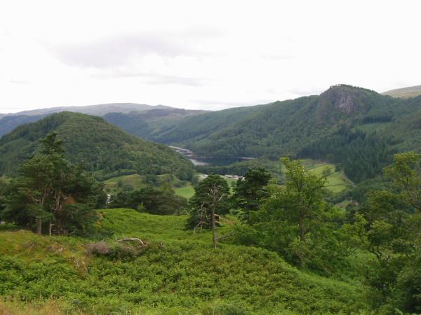 A glimpse of Thirlmere between Great How and Raven Crag
