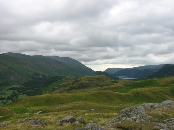 The Helvellyn ridge from High Rigg's summit