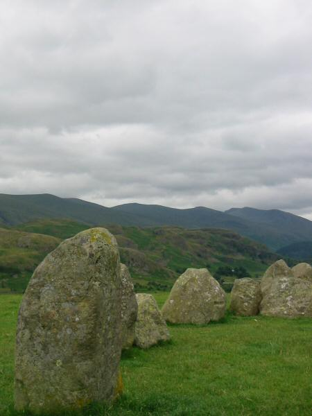 The Helvellyn ridge from Castlerigg Stone Circle