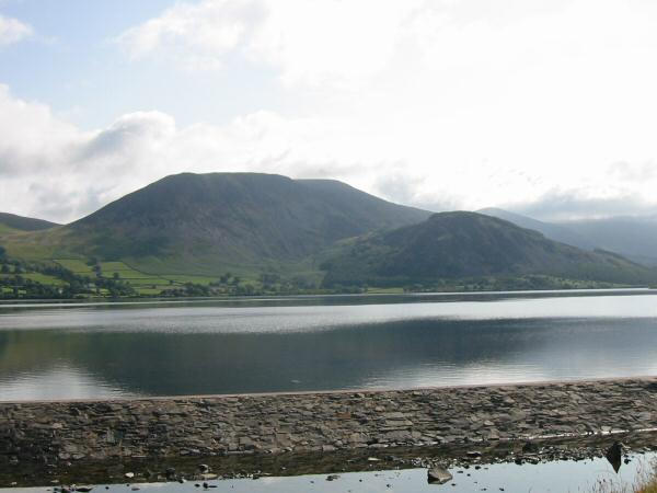 Herdus and Bowness Knott from Ennerdale Water's weir