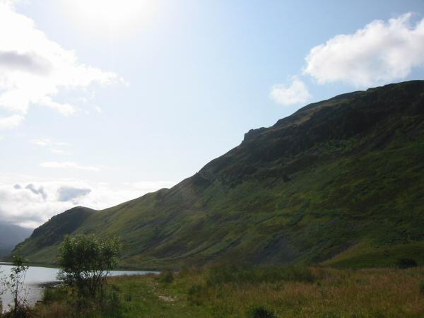 Crag Fell from the weir