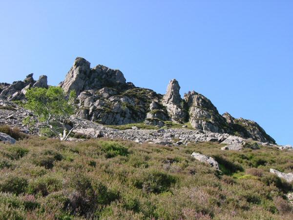 The pinnacles from below