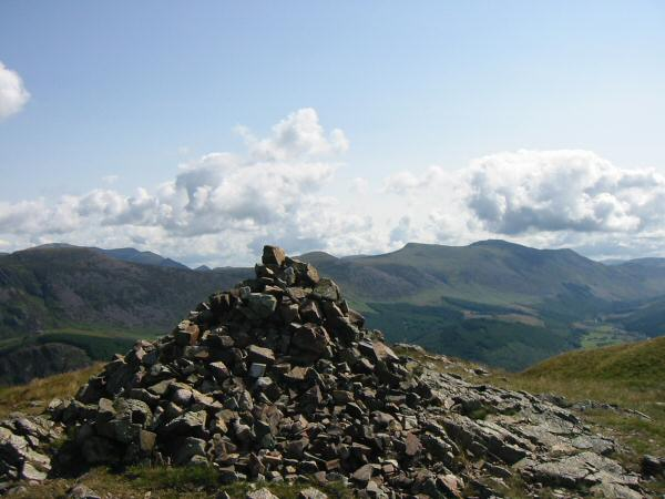 The High Stile ridge from Crag Fell's summit cairn