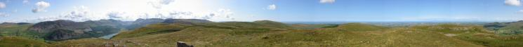 360 Panorama from Crag Fell's summit