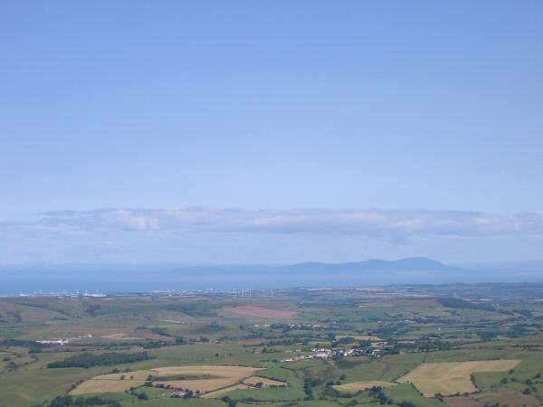 The view north across the Solway Firth into Scotland