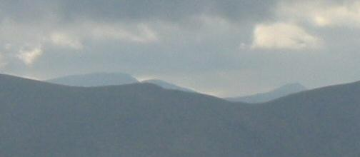 High Howes between Branstree and Selside Pike has a view of Helvellyn 9.5 miles away