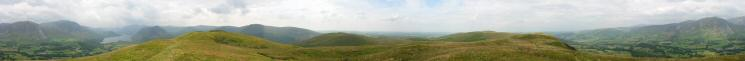 360 Panorama from Low Fell's summit