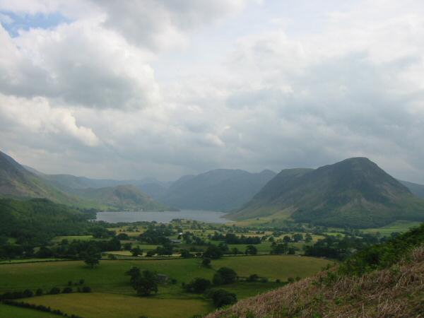Crummock Water and Mellbreak from the descent