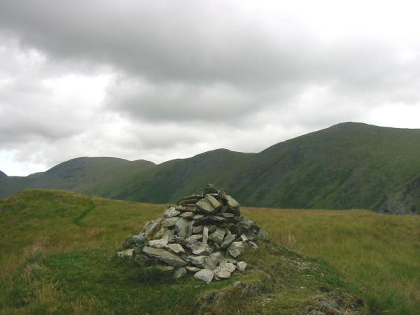 Thornthwaite Beacon, Froswick and Ill Bell from Troutbeck Tongue's summit