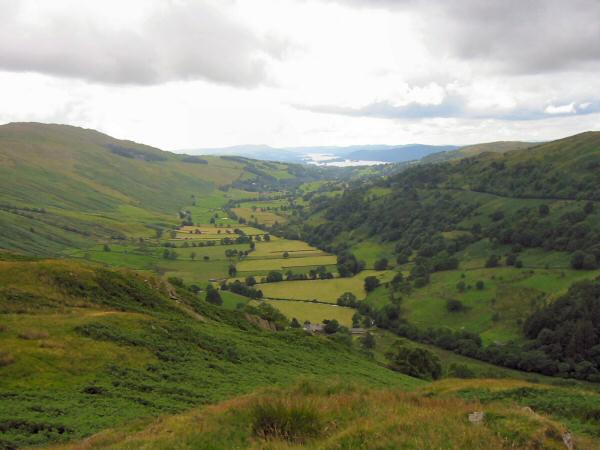 Looking south to the Troutbeck valley and Windermere