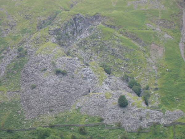 Old quarry workings on the flank of Ill Bell
