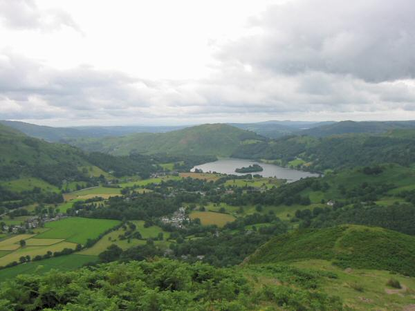 Loughrigg Fell and Grasmere from Helm Crag