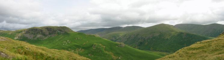 Steel Fell, the Helvellyn ridge, Seat Sandal, Fairfield and Great Rigg