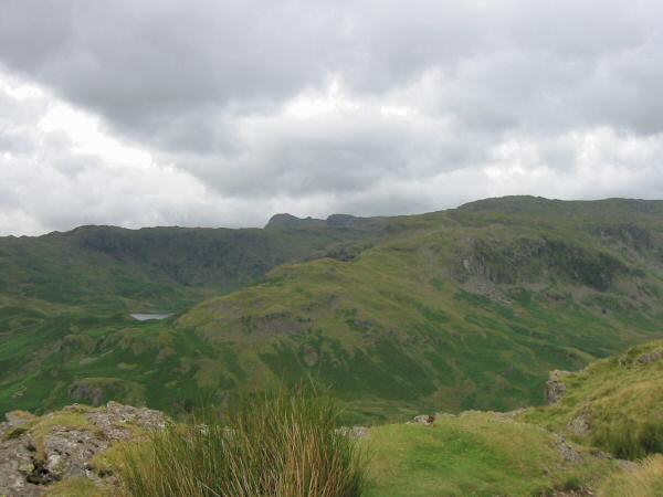 The view to the south west - Blea Rigg, Easdale Tarn, Harrison Stickle, Tarn Crag and Codale Head