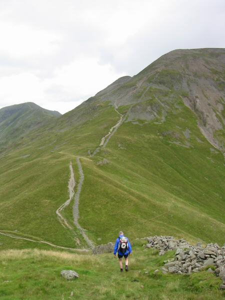 Our route up Fairfield, just under 1,000ft of ascent