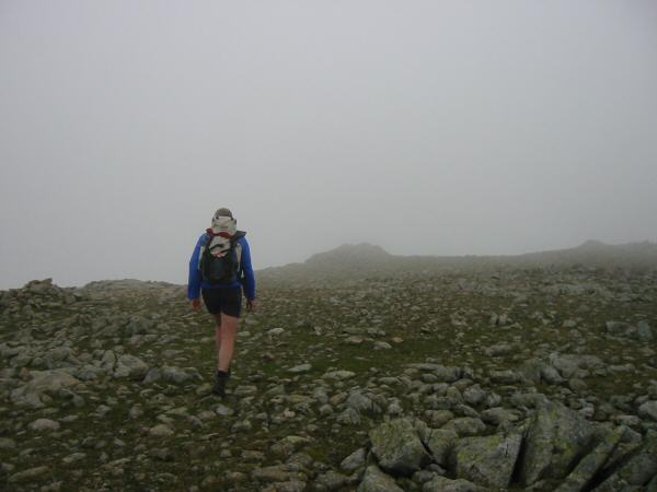 Approaching Fairfield's summit