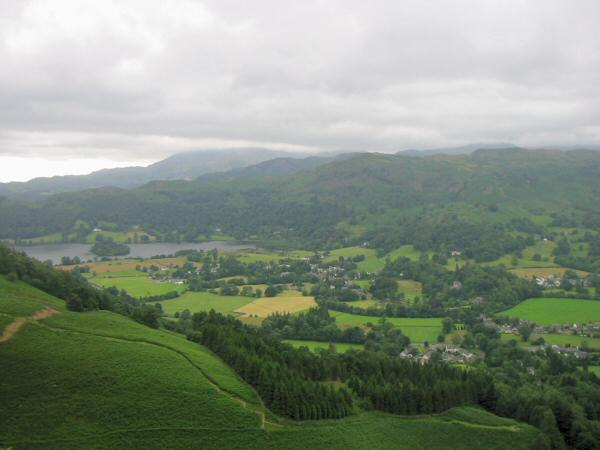 Grasmere from the descent off Stone Arthur