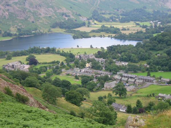 Glenridding village from the top of Blaes Crag