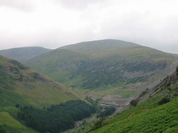 Looking up Glenridding to the Greenside Mine and Raise
