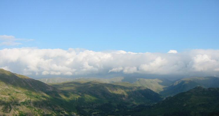 The far eastern fells from Glenridding Dodd