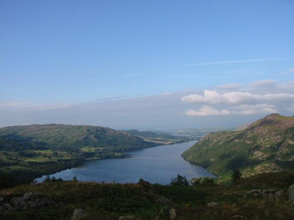 Looking down Ullswater from Glenridding Dodd summit