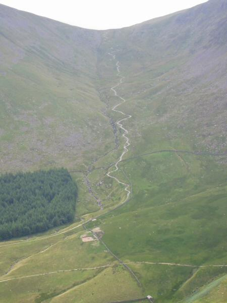 The track up to Gatescarth Pass, our route back down to Mardale Head