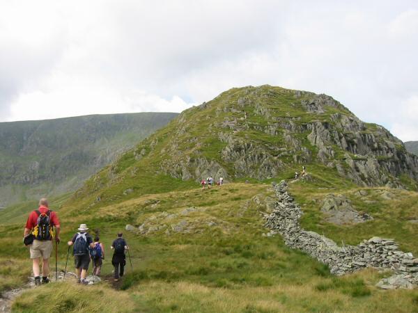 Heading for Rough Crag summit