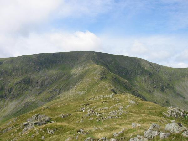 The Long Stile ridge onto High Street's summit