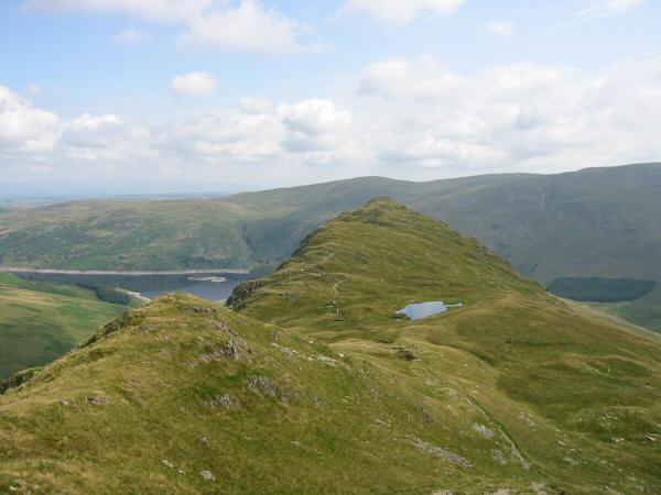 Looking back to Caspel Gate Tarn and Rough Crag