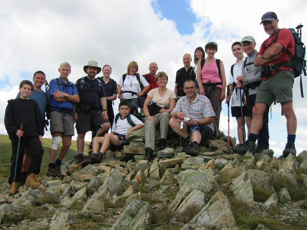Group shot on Mardale Ill Bell's summit