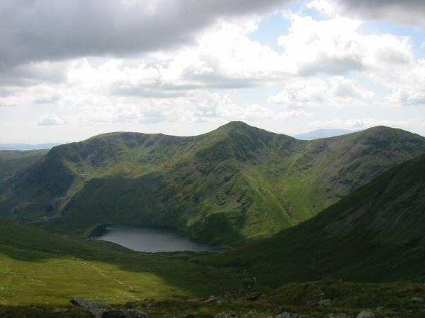 Yoke, Ill Bell and Froswick above Kentmere Reservoir
