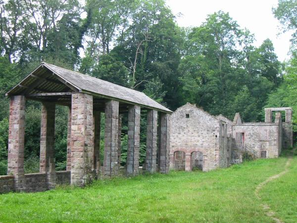 The remains of The Howk bobbin mill